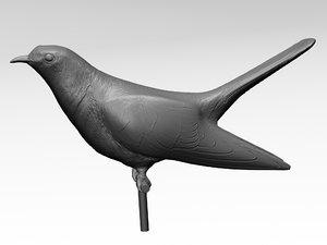3d max bird printable