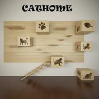 house cats obj