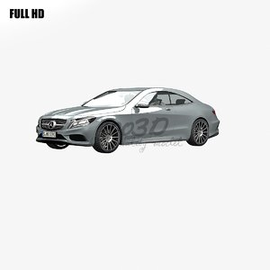 s class coupe 3d max