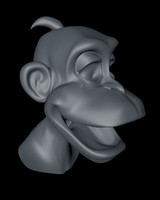 3d monkey head cartoon model