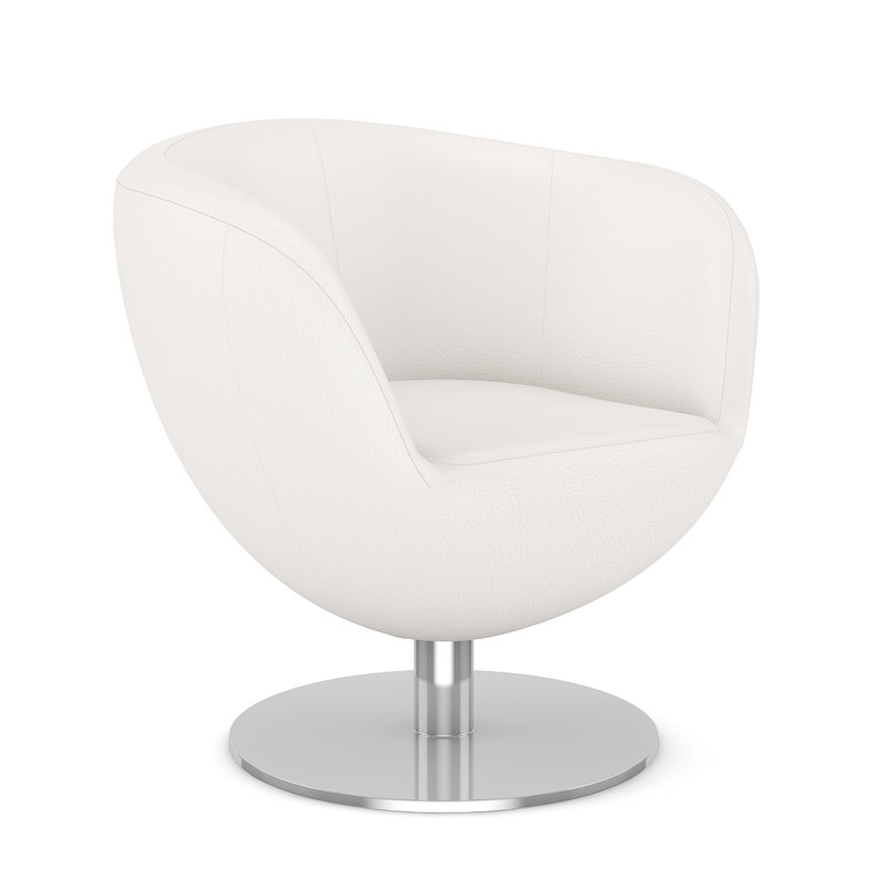 white leather swivel 3d c4d