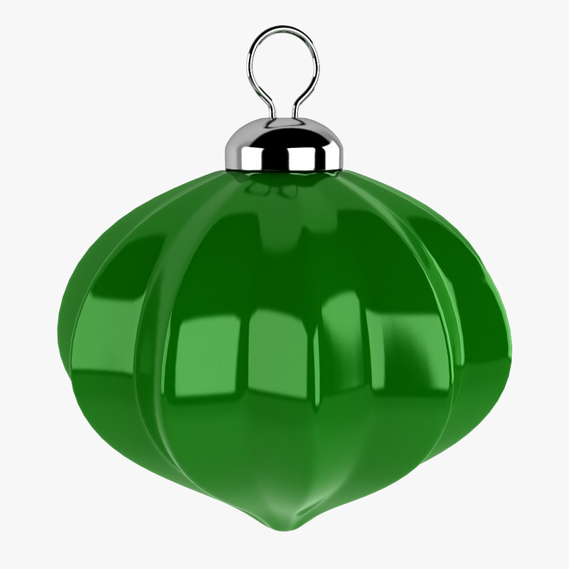 christmas ball 3d obj