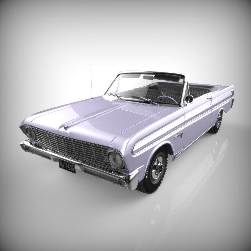 3d model of falcon 1964 convertible