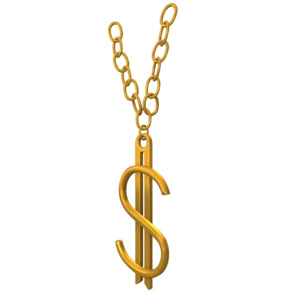 dollar chain 3d model