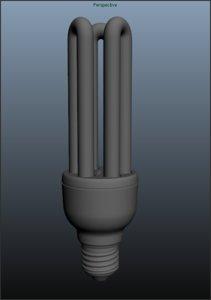 free obj model light bulb