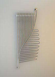 3d model heater foglia