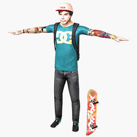 Skater Male Character