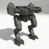 3d model drohne-gm8 scifi mech