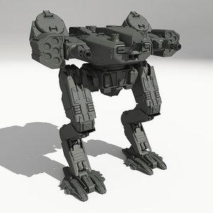 3d model drohne-gm8 scifi mech