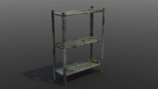 3d model object rusty metal rack