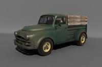 3d old farmers truck