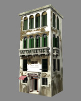 venice building architecture 3d ma