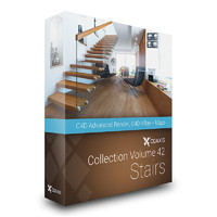 CGAxis Models Volume 42 Stairs C4D