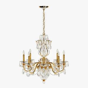 schonbek calima chandelier bt1245 3d model
