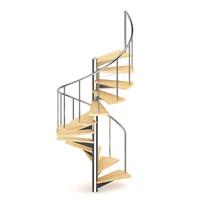 Wooden Spiral Stairs 2