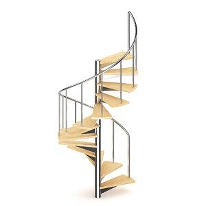 wood wooden spiral 3d c4d