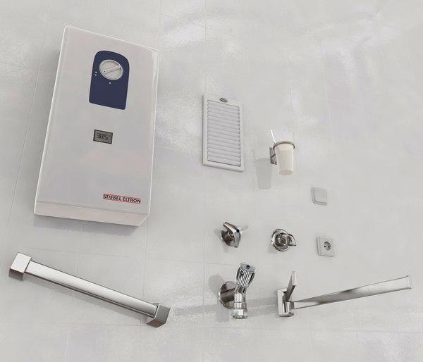 bathroom flow-type heater 3d model