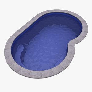 3d plastic pool