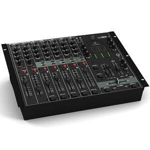 3d behringer dx 2000 dj mixer model