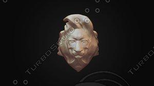 lion stylized ring 3d model