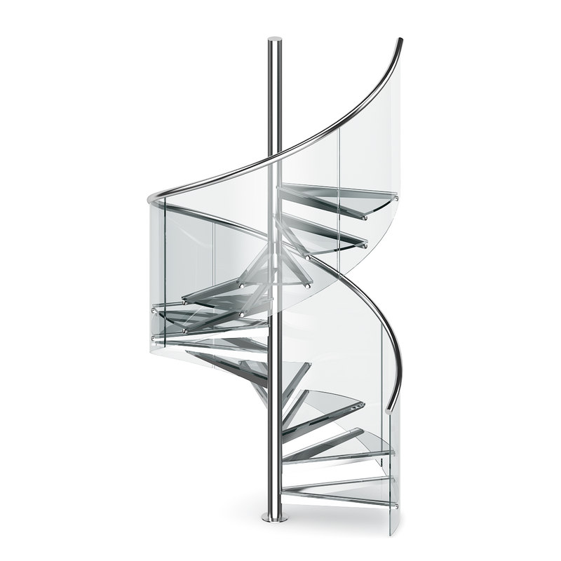 glass spiral stairs max