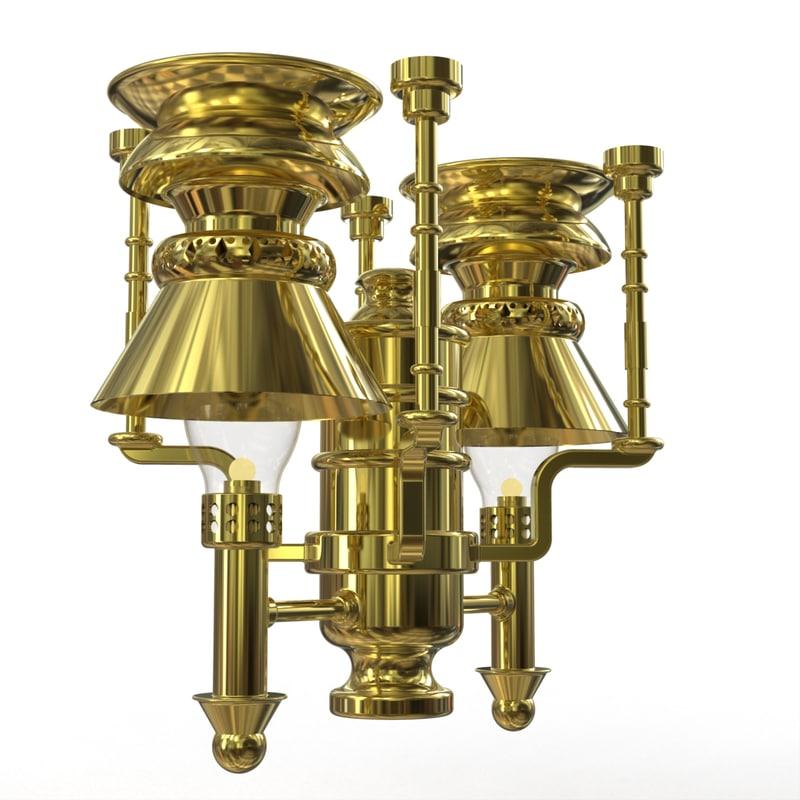 3d kerosene ceiling lamp railroad