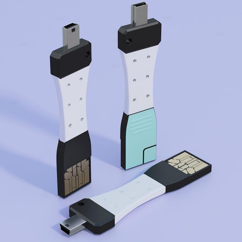 3d culcharge micro usb model