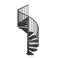 Black Narrow Spiral Stairs