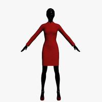 jacket skirt 3d model