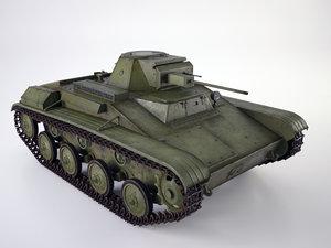 3d model light soviet tank t-60