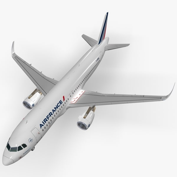 3d sharkleted a320neo air france