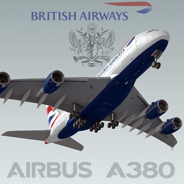3ds max airbus a380 british airways