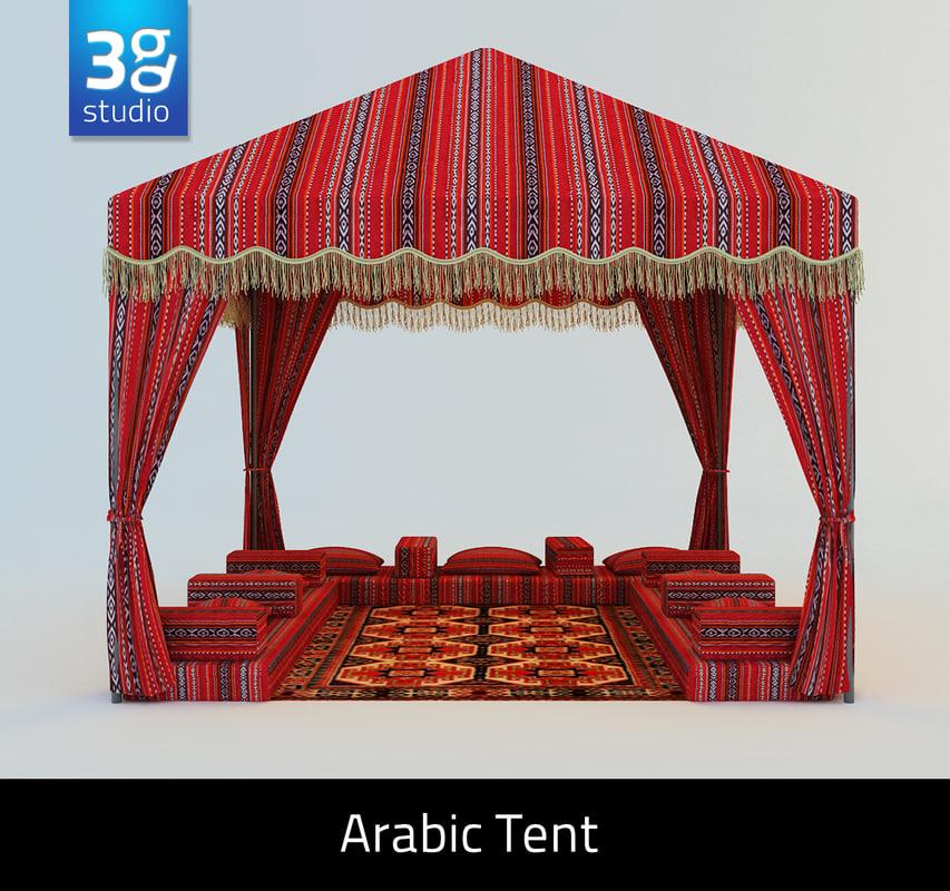 arabian tent arabic 3d model  sc 1 st  TurboSquid & tent arabic 3d model