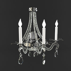 wall sconce chartres currey 3d model