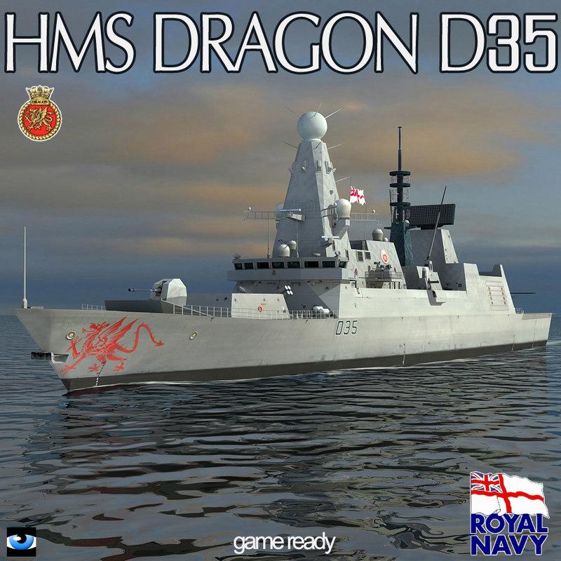 hms dragon type 45 3ds
