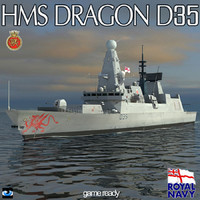 hms dragon type 45 3ds
