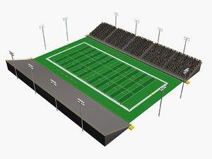 3d small football stadium
