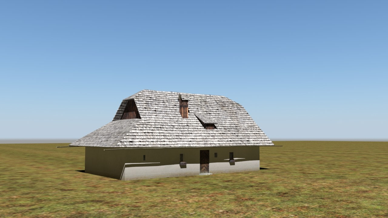 3d low-poly traditional house games