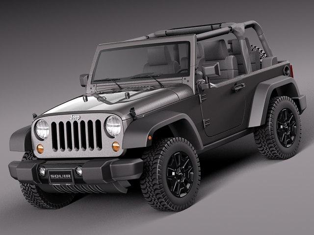 3d 2013 2014 jeep wrangler model