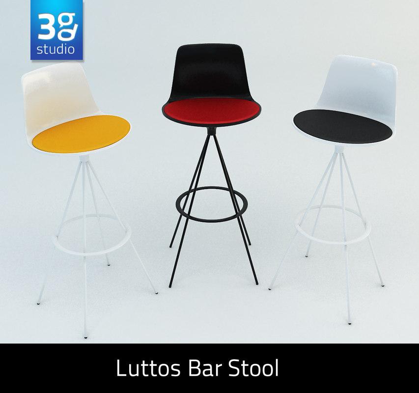 lottus bar stool 3d obj
