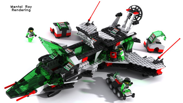 lego space police 3d model