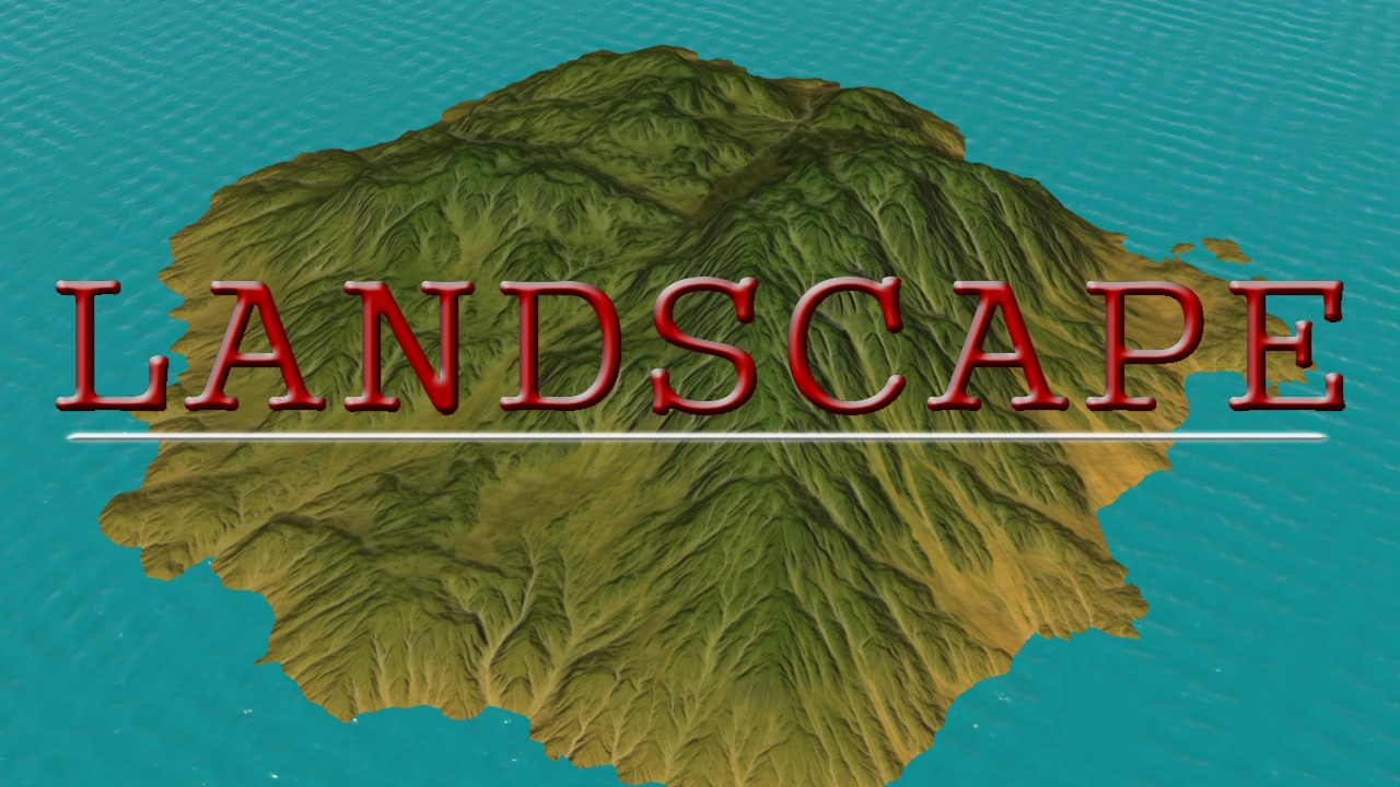 island terrain realistic 3d max