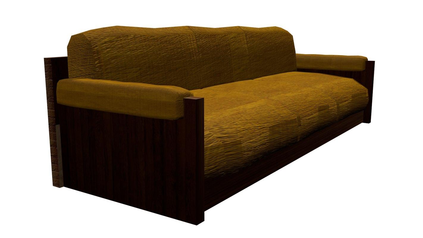 3d model low-poly sofa