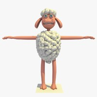cartoon sheep 3d model