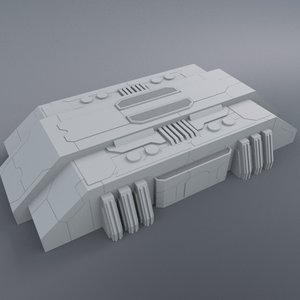 3d greeble structure model