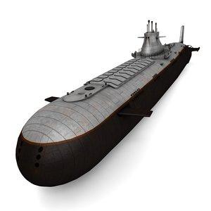 3d model nuclear submarine typhoon class