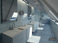 bathroom scene 3d obj