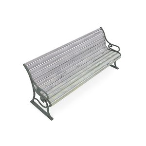 bench 3d max
