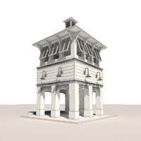 bahama clock tower 3d max