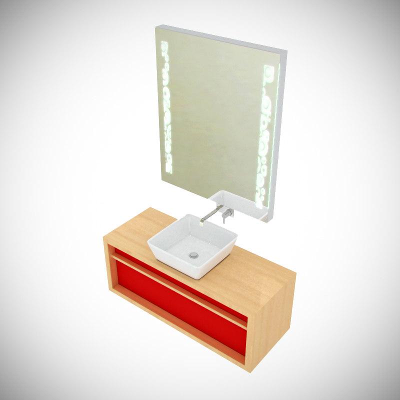 3d model sanitaire furniture